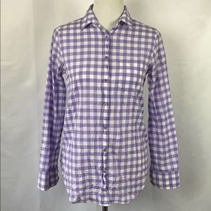 J Crew button up shirt 1 pocket checked size XS